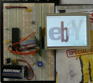 Example S1D13700 Graphic LCD Breadboard Set-up
